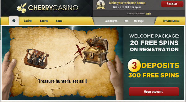Cherry casino website