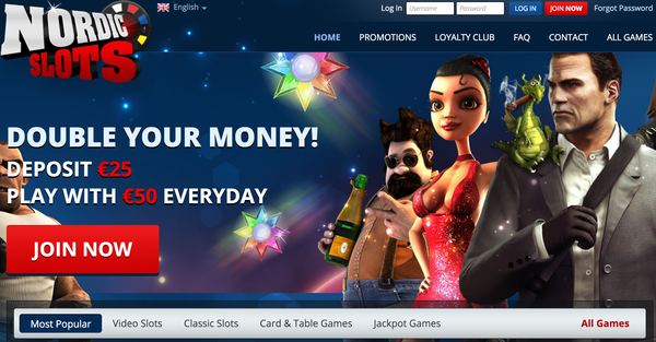 NordicSlots website Review