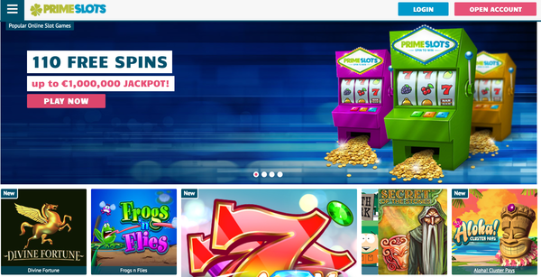 PrimeSlots Review website