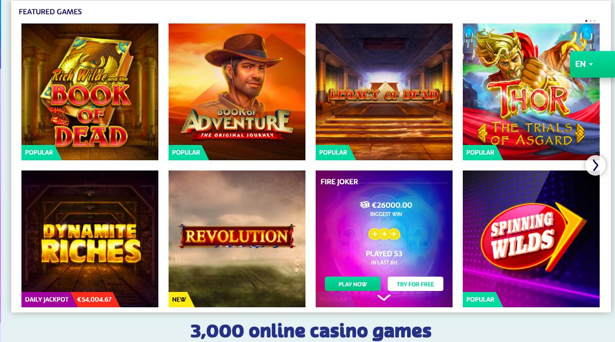 playoff casino games