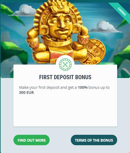 22BET first deposit bonus.