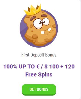 CookieCasino first deposit bonus