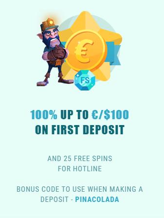 Spinia deposit bonus