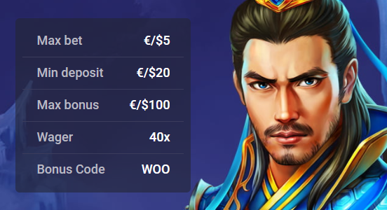 Woo casino first deposit bonus