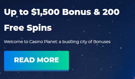 casino planet free spins bonus